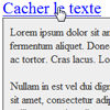 Afficher/Cacher un div(element) en javascript