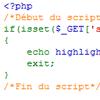 Afficher la source d'un fichier php colorée