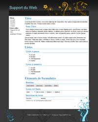 Kit graphique 14 - Design noir gris et blanc web 2.0 avec effets et transparence
