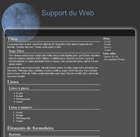 Kit graphique 17 - Design espace planettes etoiles univers noir bleu blanc web 2.0 avec effets et transparence