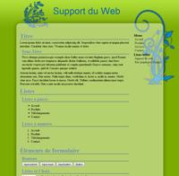 Kit graphique 18 - Design nature écologique fleurs gazon ciel, vert et bleu web 2.0 avec effets et transparence