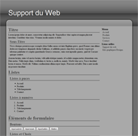 Kit graphique 19 - Design web 2.0 noir gris blanc, sobre web 2.0, noir, gris et blanc web 2.0 avec effets et transparence