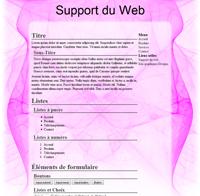 Kit graphique 24 - Design abstrait, illusion, rose web 2.0 rose et blanc, abstrait sobre web 2.0, rose et blanc web 2.0 avec effets et transparence