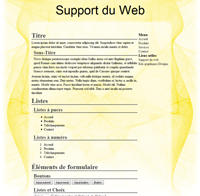 Kit graphique 25 - Design abstrait, illusion, jaune web 2.0 jaune et blanc, abstrait sobre web 2.0, jaune et blanc web 2.0 avec effets et transparence