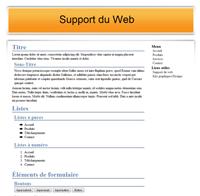 Kit graphique 27 - Design orange web 2.0 orange et blanc, sobre web 2.0, orange et blanc web 2.0 avec effets et transparence