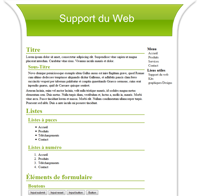Kit graphique 28 - Design vert web 2.0 vert et blanc, sobre web 2.0, vert et blanc web 2.0