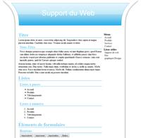 Kit graphique 30 - Design bleu web 2.0 bleu et blanc, sobre web 2.0, bleu et blanc web 2.0