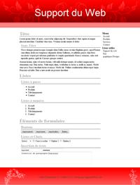 Kit graphique 33 - Design rouge sobre web 2.0 rouge et blanc, sobre web 2.0, rouge et blanc web 2.0