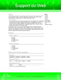 Kit graphique 34 - Design vert sobre web 2.0 vert et blanc, sobre web 2.0, vert et blanc web 2.0