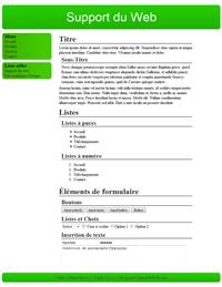 Kit graphique 36 - Design vert sobre web 2.0 vert et blanc, sobre web 2.0
