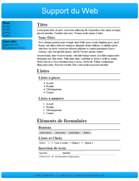 Kit graphique 38 - Design bleu sobre web 2.0 bleu et blanc, sobre web 2.0