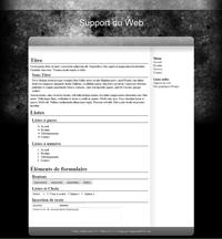 Kit graphique 41 - Design noir sobre web 2.0 noir gris blanc effets de transparence abstrait