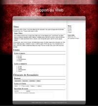 Kit graphique 42 - Design rouge et noir sobre web 2.0 noir rouge gris blanc effets de transparence abstrait