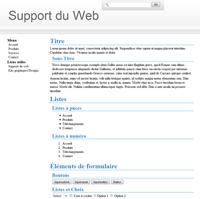 Kit graphique 06 - blanc et gris web 2.0