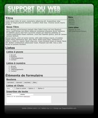 Kit graphique 69 - Design vert sobre web 2.0 effets transparence - style web 2.0 theme