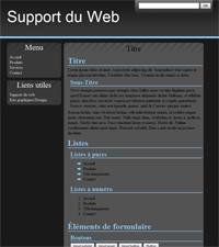 Kit graphique 09 - Sobre bleu, noir et gris