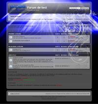 Style phpBB3 63 - bleu web 2.0 transparence - thème template design